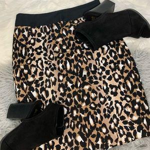 WHBM Cheetah Print Pencil Skirt